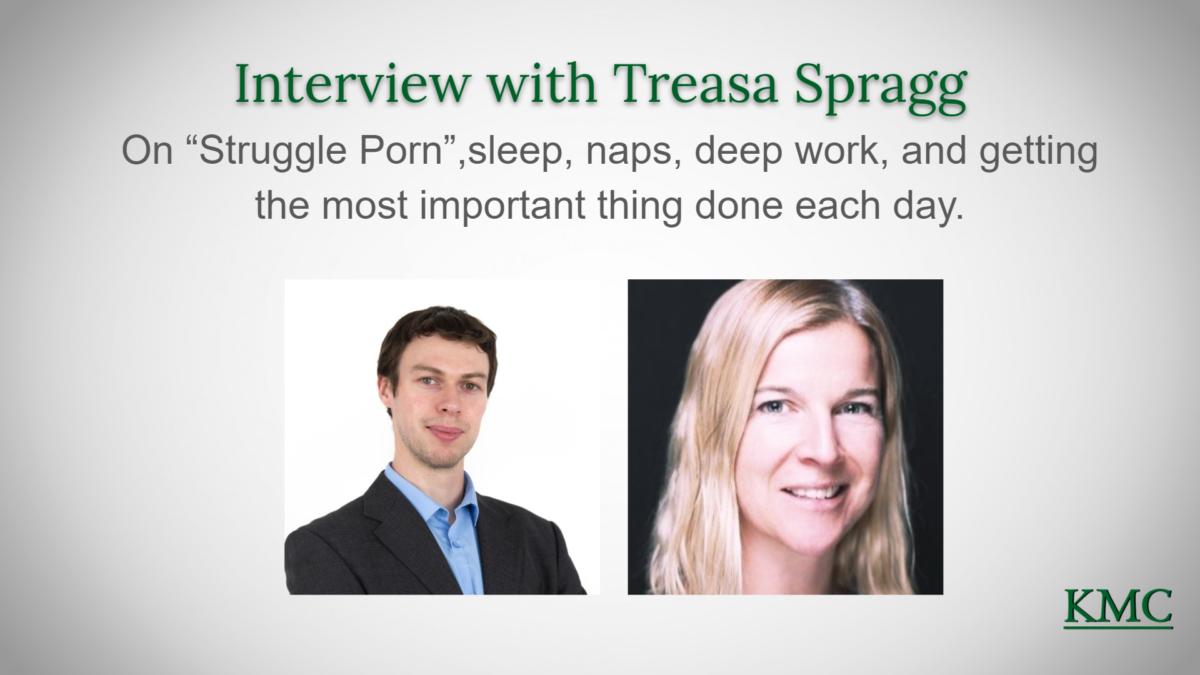 "Interview: Treasa Spragg on ""Struggle Porn"", Sleep, and more"
